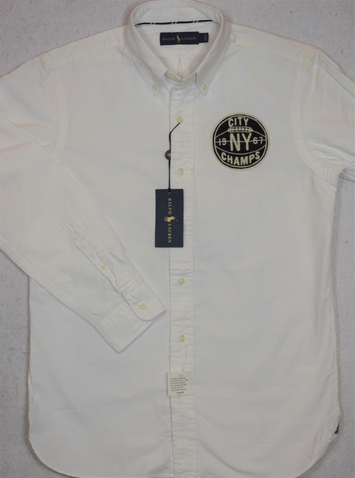 Ralph Lauren Shirt Brooklyn NY City Champs Oxford Button-Front S Small NWT