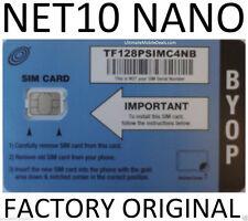 NET10 NANO SIM CARD UNLIMITED AT&T $35 MO. NOW
