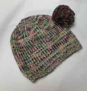 8bbb90c86 Details about Multicolor Knitted Winter Beanie Hat With Pom Pom On The Side  A7