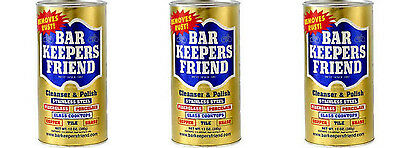 Bar Keeper's Friend Cleanser & Polish for Stainless Steel 12 oz (3-Packs)