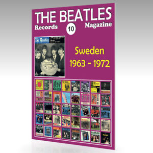 The-Beatles-registros-Revista-N-10-Suecia-1963-1972-guia-de-color-completo