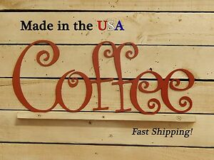 Image Is Loading Coffee Metal Sign Wall Artwork Kitchen