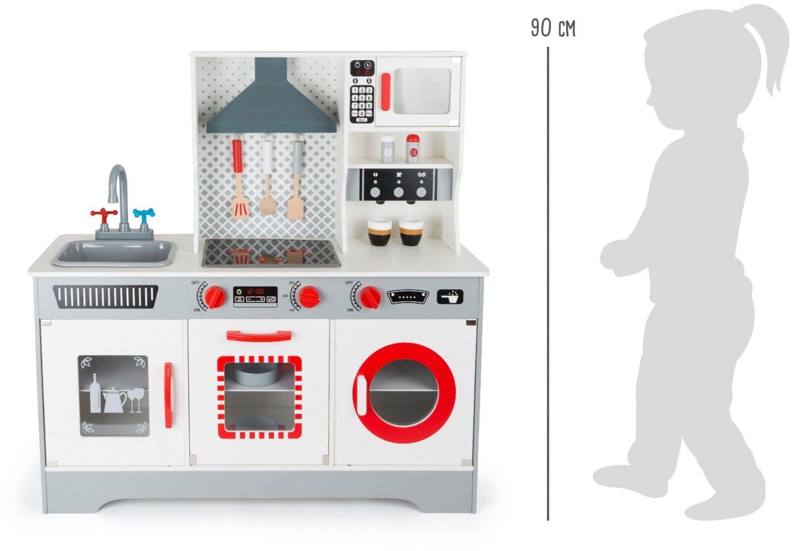 Kinderküche Küche mit Zubehör ca. 90 x 30 x x x 90 cm Arbeitshöhe ca ...