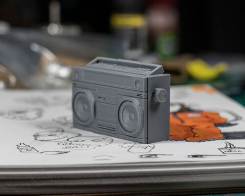 Marvel Legends 1//12 Grey Boombox//Tapedeck ACCESSORY ONLY Mezco