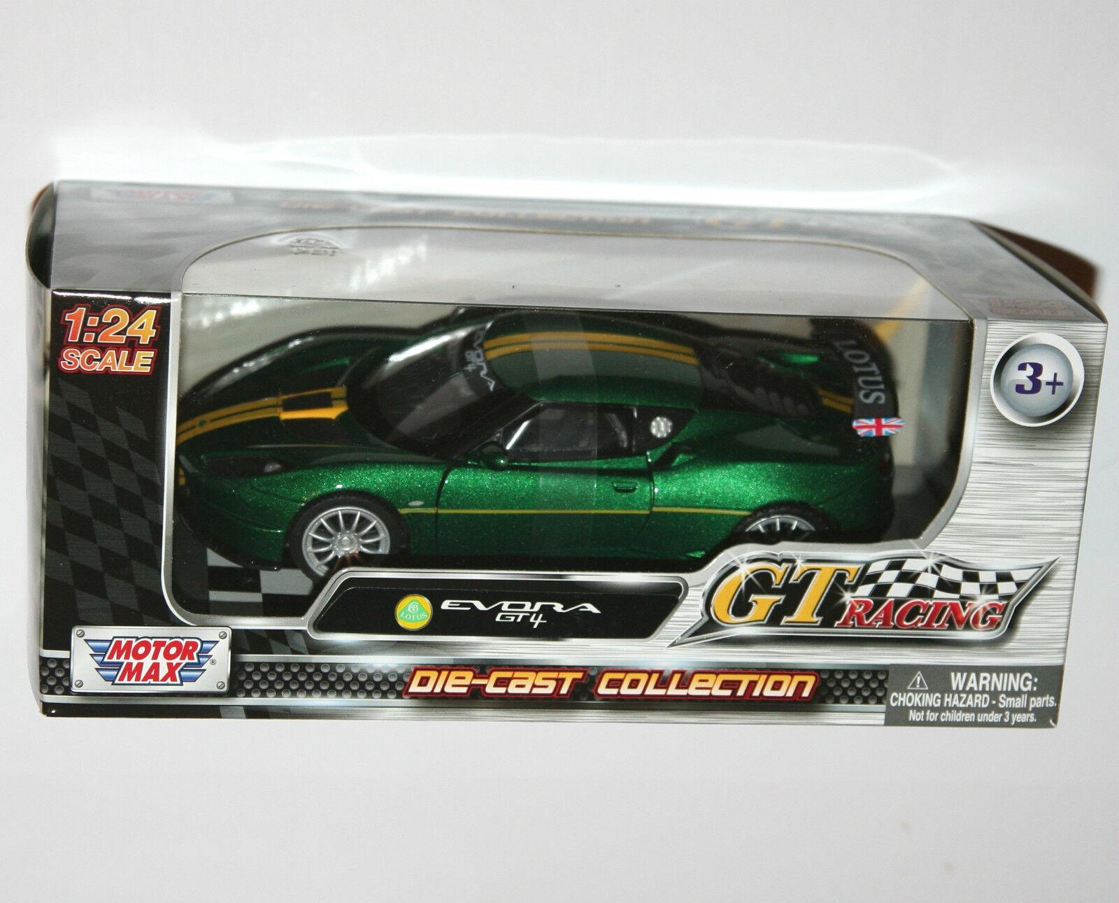 Motor Max - LOTUS EVORA EVORA EVORA GT4 (Green) - Model Scale 1 24 92f434