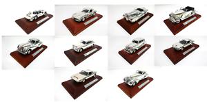Conjunto de 10 argento Modelo Coches Atlas 1 43 Mercedes Porsche Lancia Chrysler Alfa
