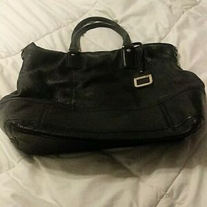 4bbfad5128cc Details about innue large black leather purse Made in Italy