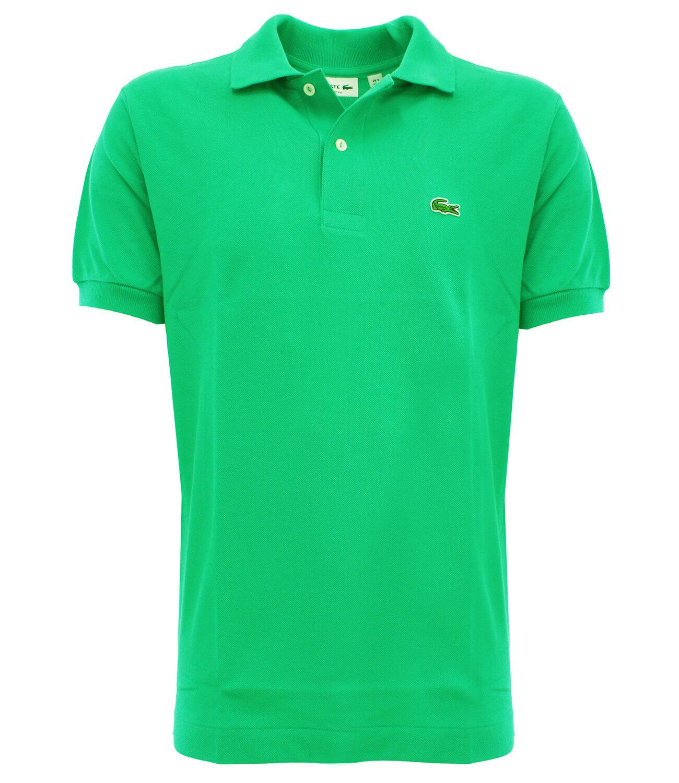 Lacoste 12123B5 papeete Men's short sleeve classic fit aqua green polo - pap