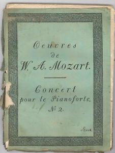 Symbole De La Marque Œuvre De W. A. Mozart Concert Pour Le Piano Forte Nº 2 Kv 488 (1800) Voix-afficher Le Titre D'origine Volume Large