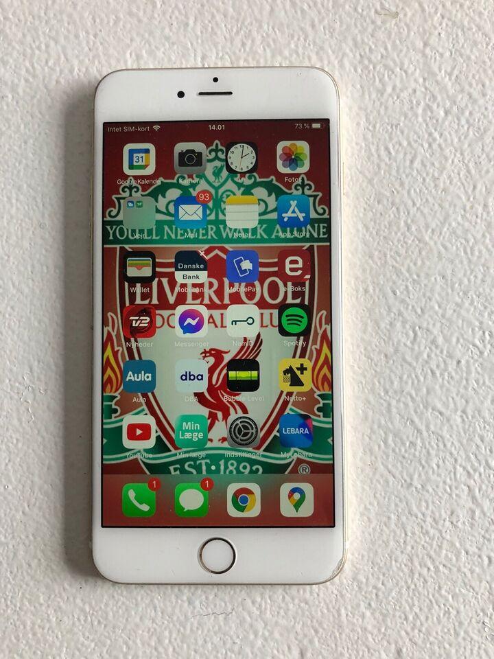 iPhone 6 Plus, 128 GB, hvid