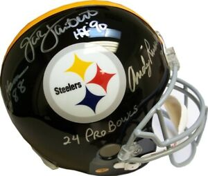 606b42c6c Image is loading Ham-Lambert-Russell-Autographed-Steelers -Throwback-Full-Size-