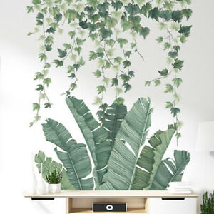 Wall-Sticker-Greenery-Leaves-Waterproof-Bedroom-Living-Room-Decor-Adhesive