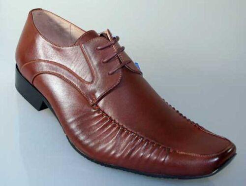 Eleganter Herrenschuhe GOOR Schnürschuhe komfort Grösse 41 braun