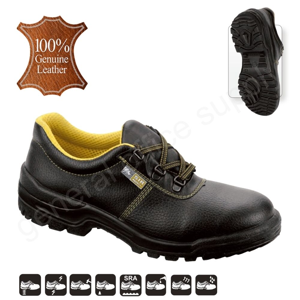 Men S3 SRA Safety Shoes Trainers Boots Work STEEL TOE CAP Real Leather New PLESU