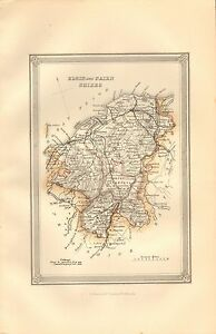 Nairn Scotland Map.1875 Ca Antique Map Scotland Elgin And Nairn Shire Railways Ebay
