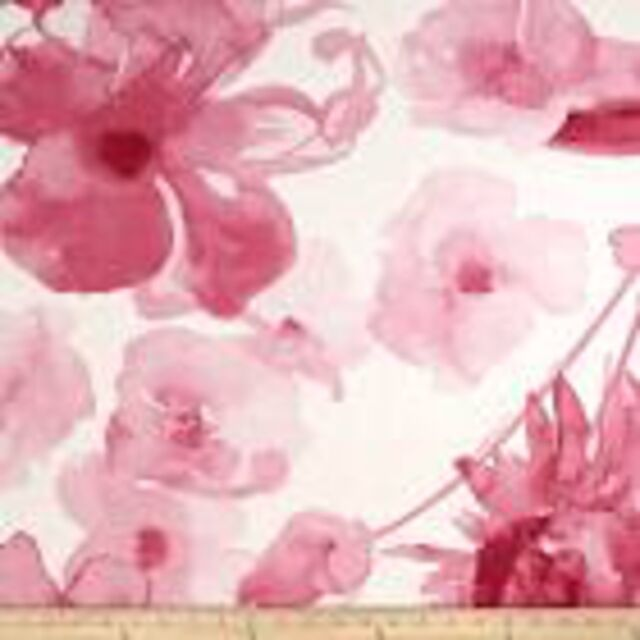 Large Scale Pink Floral Drapery Upholstery Fabric By Braemore Adagio
