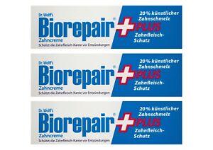 3x-BioRepair-plus-Zahncreme-75ml-Zahnfleisch-Schutz-Zahnpasta-Dr-Wolff-s
