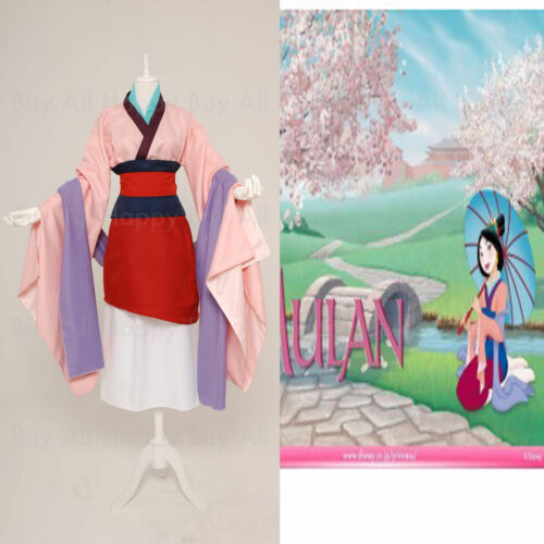 Newest Hua Mulan Dress Blue Dress Princess Dress Movie Adult Cosplay Costume