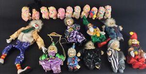 Lot-de-9-clowns-porcelaine-collection-petites-peluches