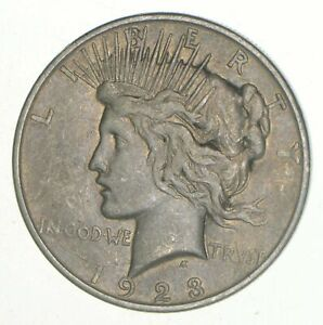 1923-D-Peace-Silver-Dollar-90-US-Coin-Denver-Minted-VG-XF