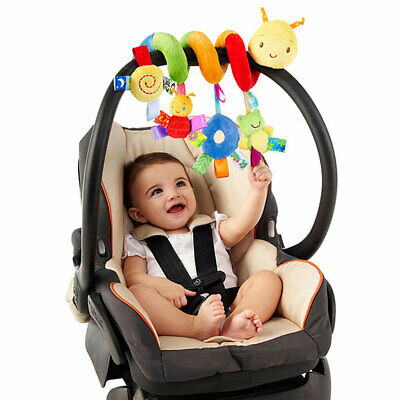 Kids Baby Crib Cot Pram Hanging Spiral Toys Soft Developmental Animals Toy Gift