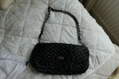 Moschino Detachable Bag Textured Black Chain With Evening Clutch 68Z6qr
