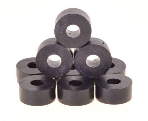 10 x Unterlegscheibe Gummi 27 x 14mm, M10 Bohrung, schwarz, Hartgummi
