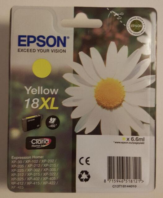 T1814 Original Epson T18XL Yellow Tintenpatrone 6,6ml  Expression Home XP-Serie