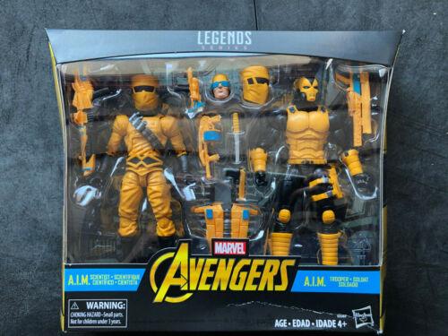 Marvel Legends Series AIM TROOP BUILDER  2 Pack AIM Scientist New Damaged Box