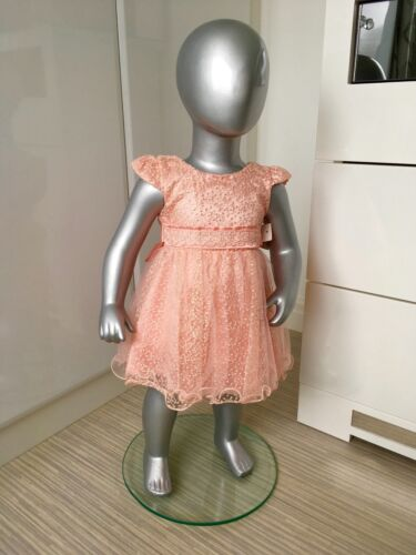 Baby Peach Flower Girl Party Occasion Summer Prom Pageant Dress