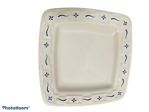 Longaberger Woven Traditions Blue Soft Square Bread Plate SET OF 8 EXCELLENT
