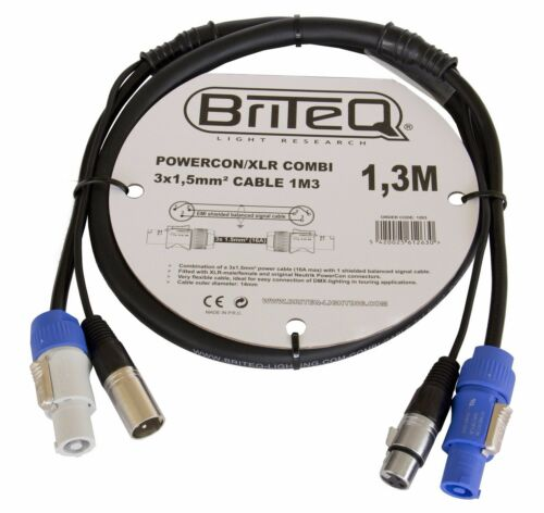 Briteq Neutrik Kombikabel für Strom /& DMX PowerCon XLR PA verschiedene Längen