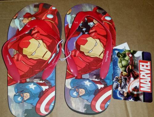 Flip Flops NEW Disney Marvel Avengers Multi Sizes Iron Man, Captain America