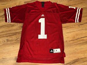 Details about Wisconsin Badgers Home NCAA Football Jersey #1 Adidas Men's Small Red Nick Toon