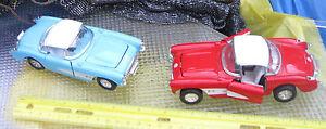 Corvette-Die-Cast-1957-FI-Corvettes-Lot-of-2-Cascade-Green-amp-Red-5-5-inch-Xmas