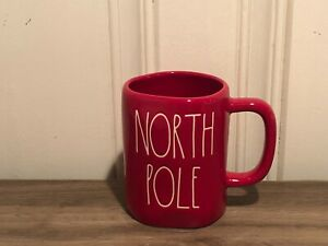 Rae-Dunn-Christmas-By-Magenta-NORTH-POLE-Large-Letter-Farmhouse-Red-Holiday-Mug