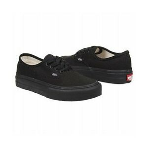 da031c4b20 Vans AUTHENTIC Black Black Lace Up Canvas Discounted (121) Kid s ...