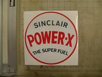 Vintage Sinclair Power-x Gasoline Sticker 9 Diameter