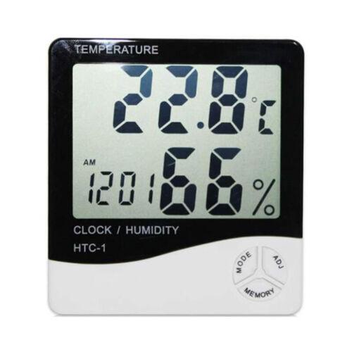 LCD-Thermometer Hygrometer Temperatur-Luftfeuchtigkeit Meter alarmiert E7C3 7X