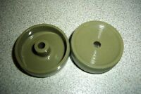 Two Green Wheels For The Vintage Kirby Model D80 132067 Vacuum Cleaner Accessories