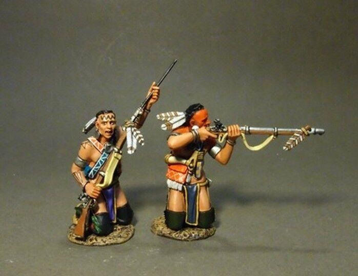 John Jenkins Monongahela CAN-04B Woodland Indianer 2 Kniend MIB