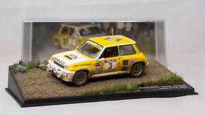 1 43 envejecido diorama renault 5 turbo Rally de Córcega 1983 Ixo