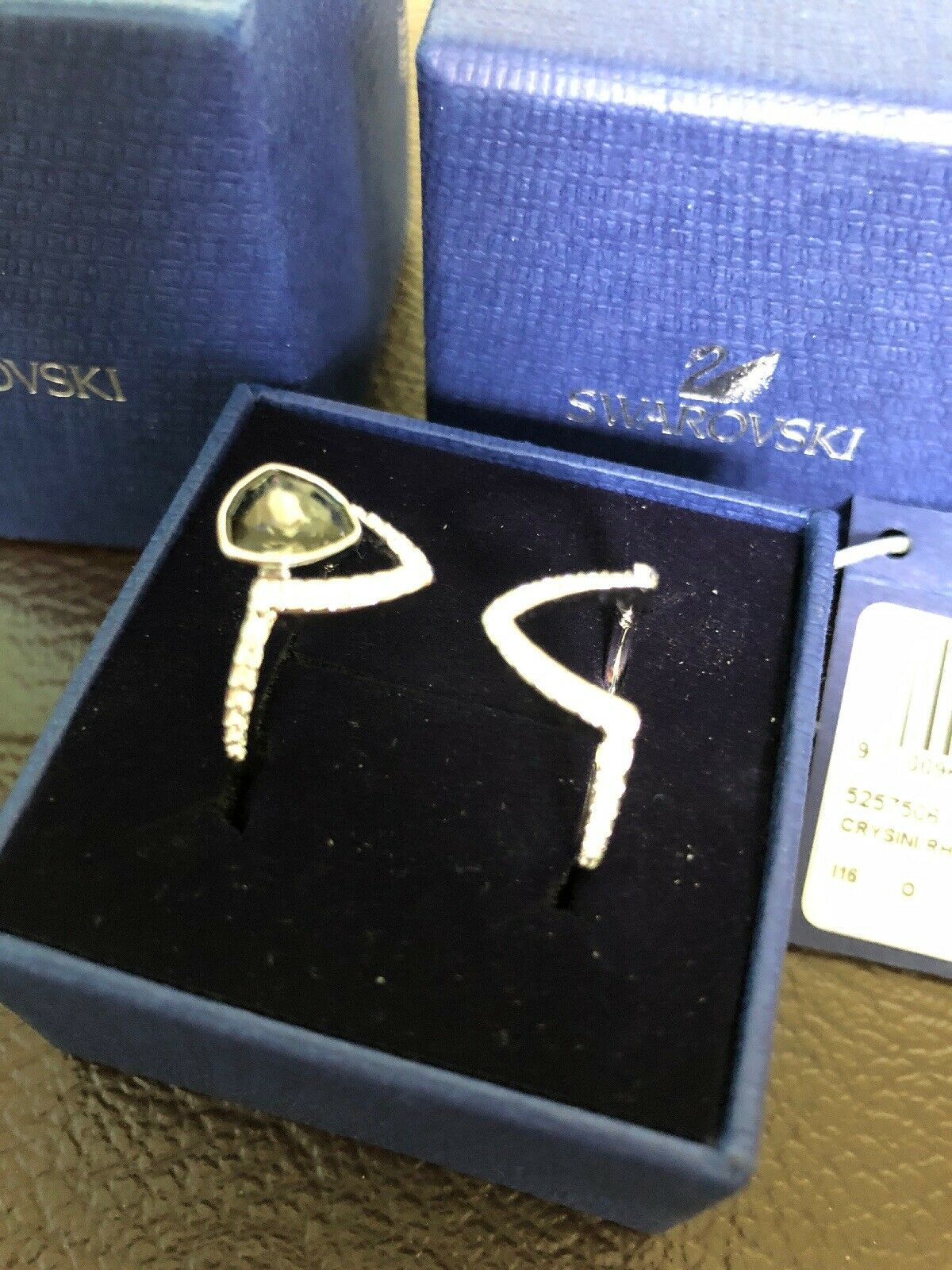 Swarovski Fantastic  Ring Set Crysini rhs Ring Size 50