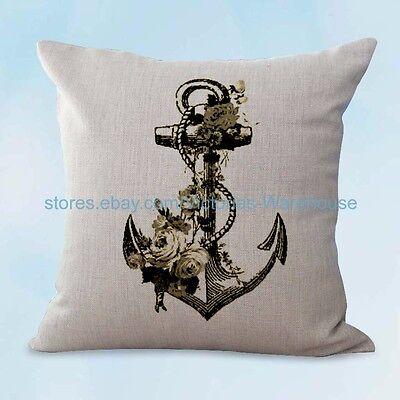 Outdoor Throw Pillow Covers Coastal, Outdoor Anchor Pillow