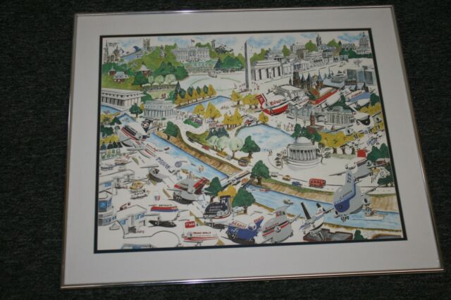 MAP of the City of Washington DC /& Georgetown circa 1867  Vintage Reprint Poster