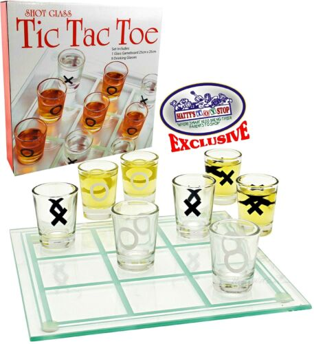 Matty/'s Toy Stop Tic-Tac-Toe Three in A Row Shot Glass Drinking Game with 9 ...