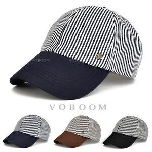 Casquette-de-baseball-a-rayures-en-coton-camionneur-pour-hommes-chapeau-de-golf