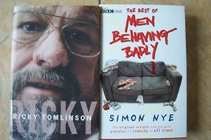 2-HARDBACK-BOOKS-BIOGRAPHY-RICKY-TOMLINSON-THE-BEST-OF-MEN-BEHAVING-BADLY