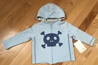 Boys Infant Skull Layette Hoodie Jacket 12 Months Blue Amy Coe