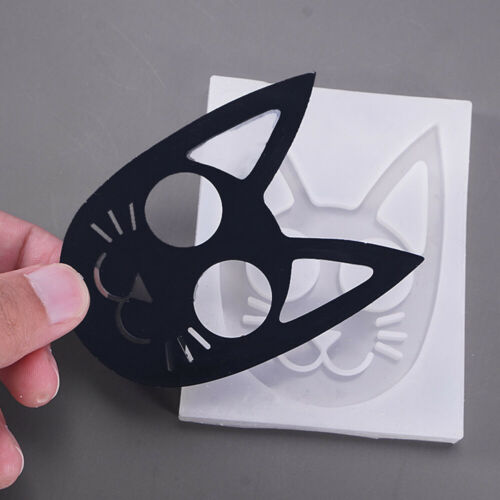 Cat Head Epoxy Resin Silicone Mold Keychain Pendant Jewelry Casting DIY Craft